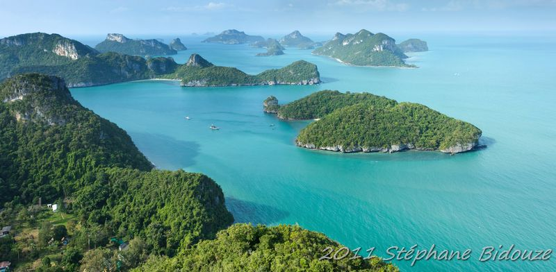 Ko Phangan, l'archipel d' Ang thong et retour à Bangkok…