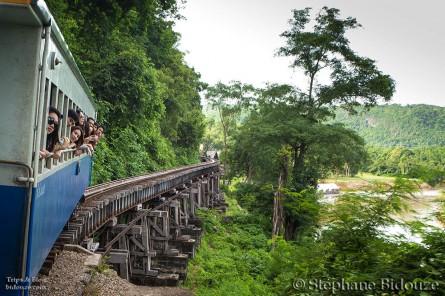 De Kanchanaburi à Namtok par le chemin de fer de la mort
