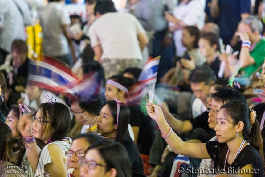 Les manifestations de Novembre 2013 à Bangkok contre le projet d'amnistie.