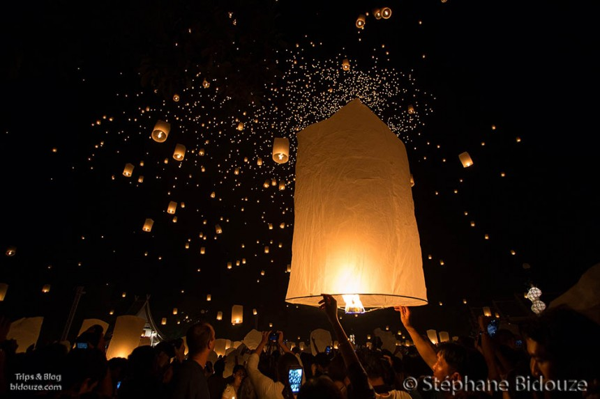 The festival of the floating lanterns, Yi Peng 2013 in Chiang Mai