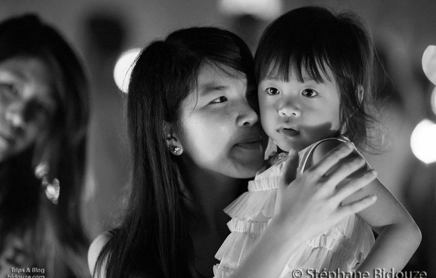 Thai mother and kid