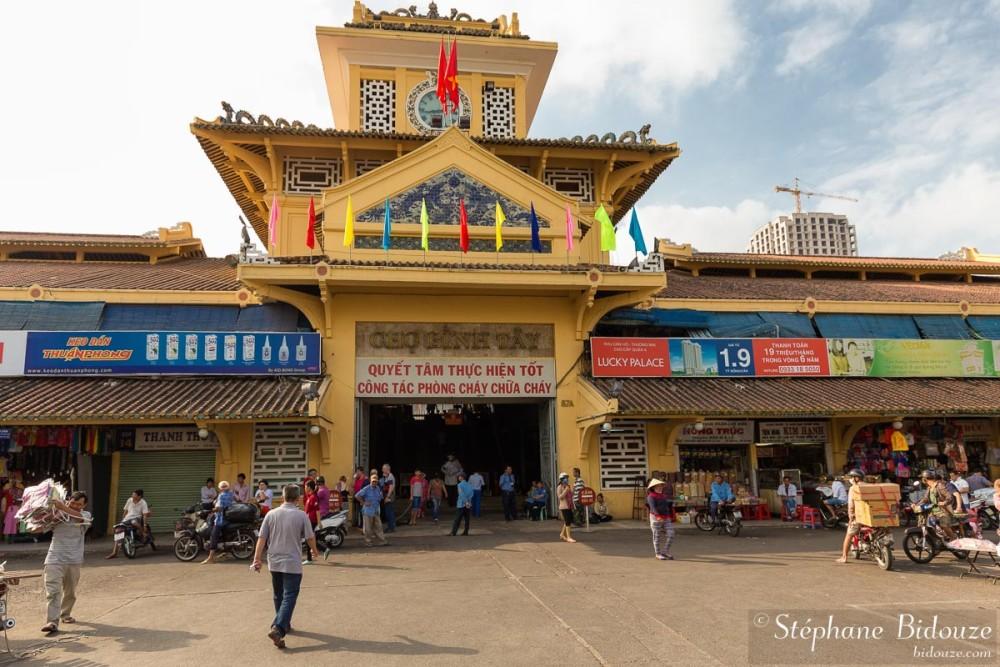 Entrance of the  Cho Binh Tay market