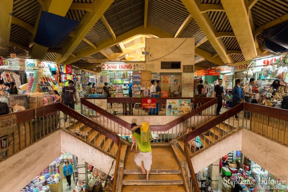 Inside the  Cho Binh Tay market